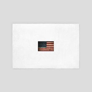 Vintage American Flag 4' x 6' Rug