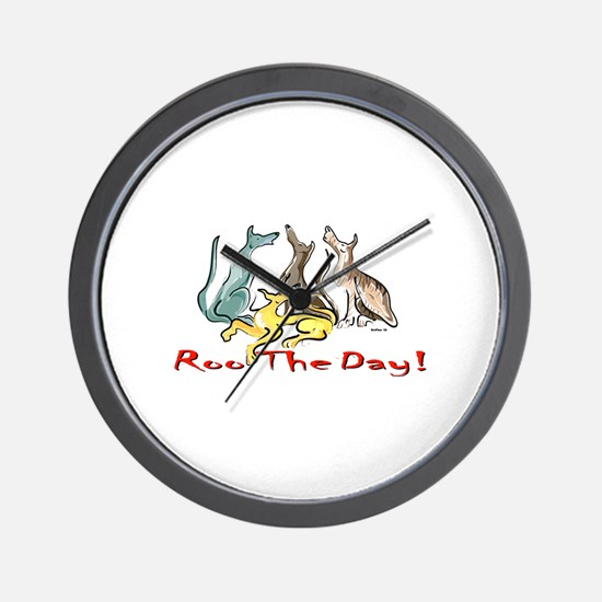 Greyhound Roo Color Wall Clock