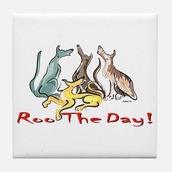 Greyhound Roo Color Tile Coaster