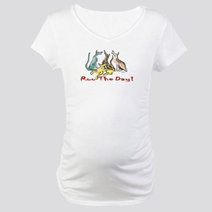 Greyhound Roo Color Maternity T-Shirt