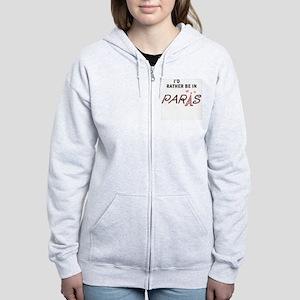 RATHER BE IN PARIS Women's Zip Hoodie