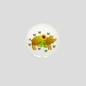 Golden Pig Mini Button
