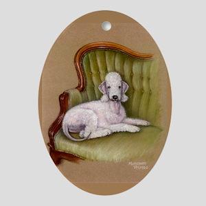 Bedlington-Her Royal Highness Oval Ornament