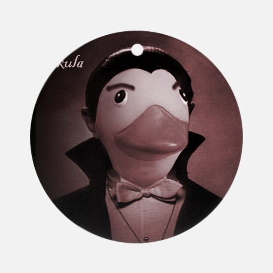 Count Duckula Ornament (Round)