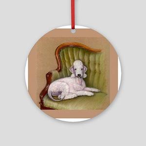 Bedlington-Her Royal Highness Ornament (Round)