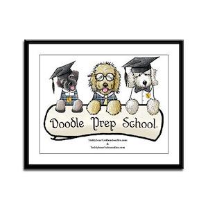 Doodle Prep School Framed Panel Print