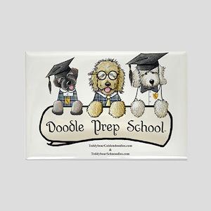 Doodle Prep School Rectangle Magnet