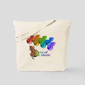 Colorful Violins Tote Bag
