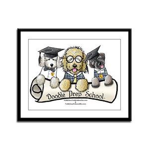 Doodle Prep School II Framed Panel Print