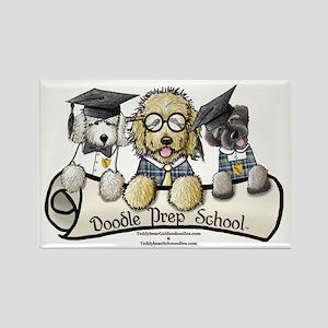 Doodle Prep School II Rectangle Magnet