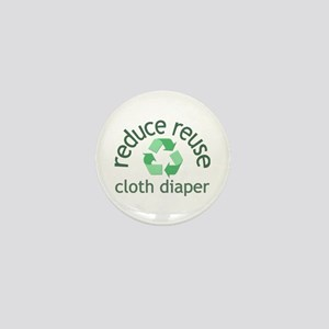 Recycle & Cloth Diaper - Mini Button