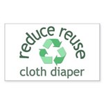 Recycle & Cloth Diaper - Rectangle Sticker