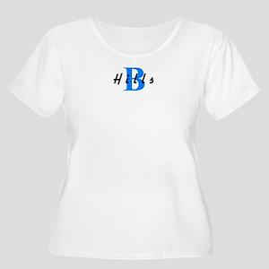 B HILLS (BEVERLY HILLS) Women's Plus Size Scoop Ne