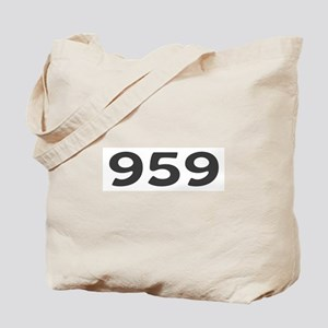 959 Area Code Tote Bag