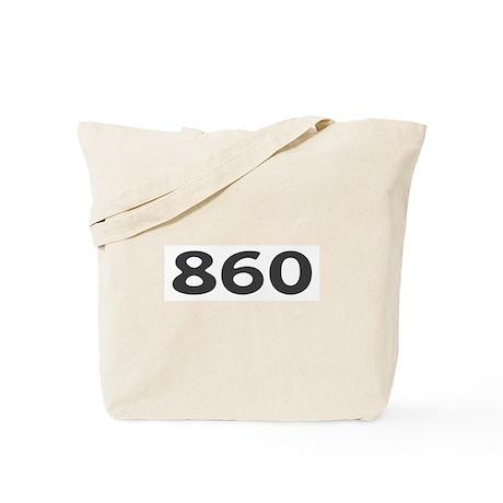 860 Area Code Tote Bag