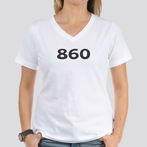 860 Area Code Women's V-Neck T-Shirt