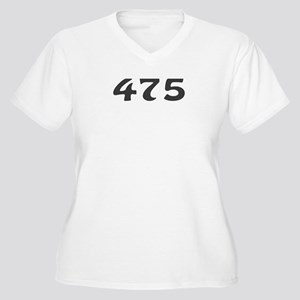 475 Area Code Women's Plus Size V-Neck T-Shirt