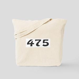 475 Area Code Tote Bag