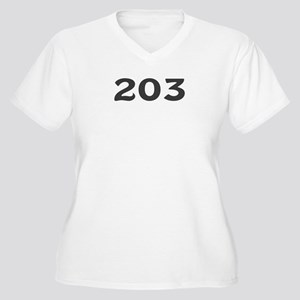 203 Area Code Women's Plus Size V-Neck T-Shirt