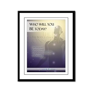 Who will you BE? Framed Panel Print