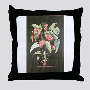 A Colombian Aroid Throw Pillow
