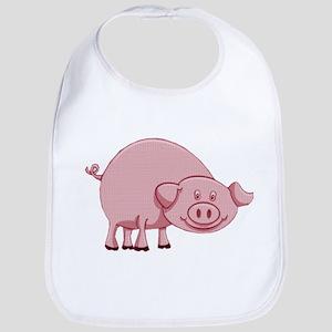 Happy Pink Pig Baby Bib