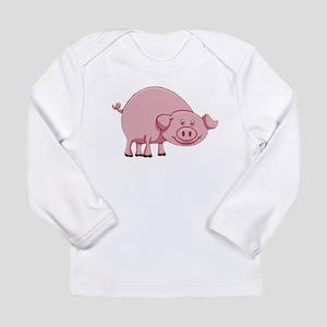 Happy Pink Pig Long Sleeve T-Shirt