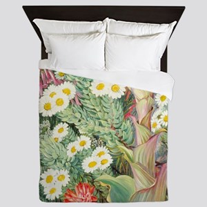 A Selection of Flowers from Table Moun Queen Duvet