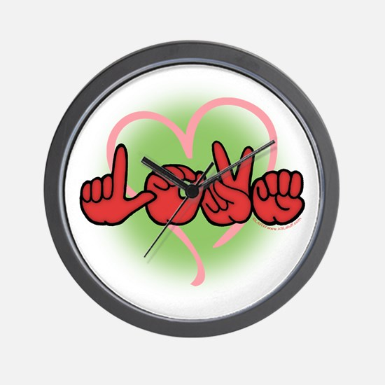 LoveWithHeart Wall Clock