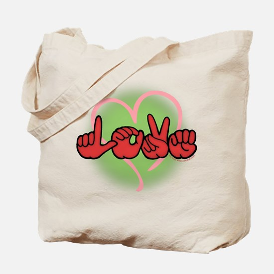 LoveWithHeart Tote Bag