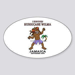 Jamaica Hurricane Wilma Oval Sticker