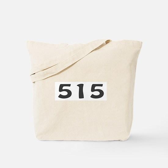 515 Area Code Tote Bag