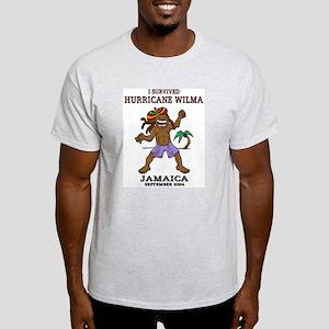 Jamaica Hurricane Wilma Ash Grey T-Shirt