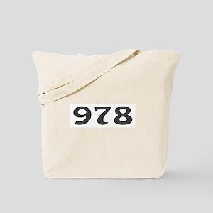 978 Area Code Tote Bag