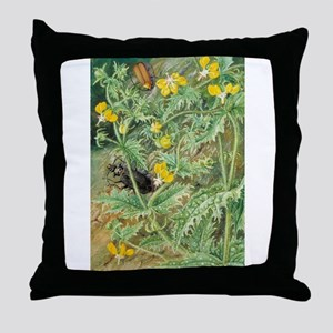 A Chilean Stinging Nettle and Male an Throw Pillow