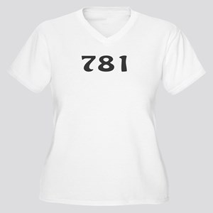 781 Area Code Women's Plus Size V-Neck T-Shirt