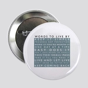 Words to Live By Button