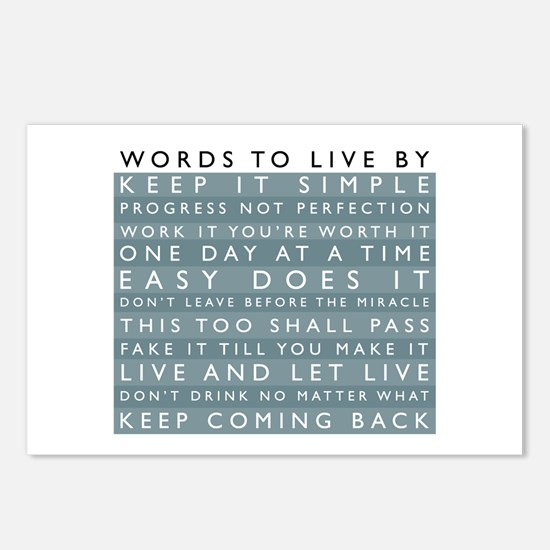 Words to Live By Postcards (Package of 8)