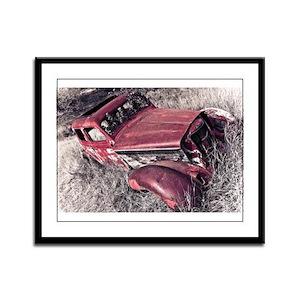 Vintage Automobile Framed Panel Print