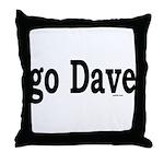 go Dave Throw Pillow