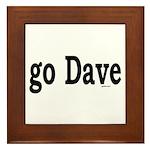 go Dave Framed Tile