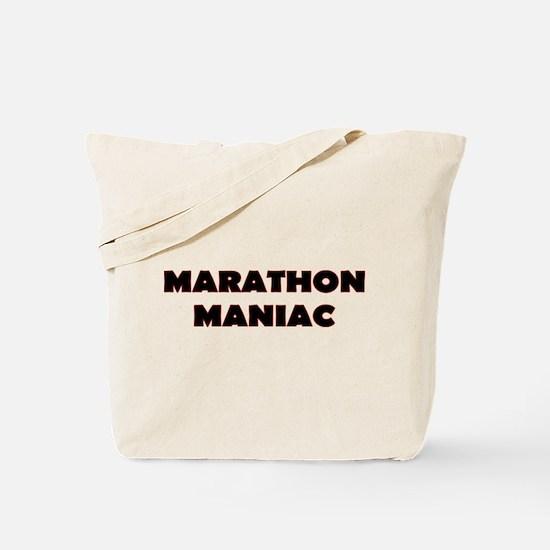 Marathon Maniac Text Tote Bag