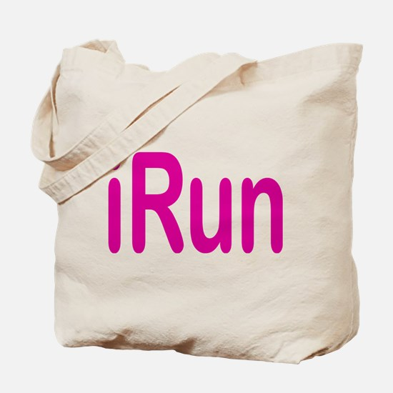 iRun pink Tote Bag