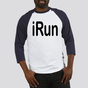 iRun black Baseball Jersey