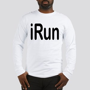 iRun black Long Sleeve T-Shirt