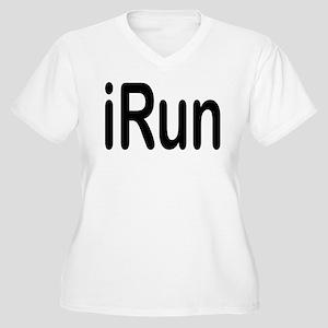 iRun black Women's Plus Size V-Neck T-Shirt