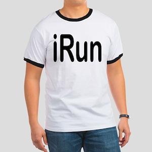 iRun black Ringer T