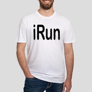 iRun black Fitted T-Shirt
