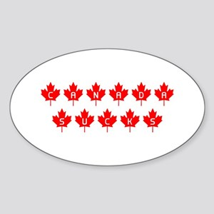 Canada Sucks Mapleleafs Oval Sticker