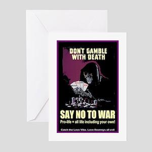 Say no to war Greeting Cards (Pk of 10)